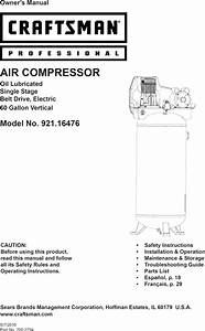 Craftsman Professional 60 Gallon Air Compressor 3 1 Rhp