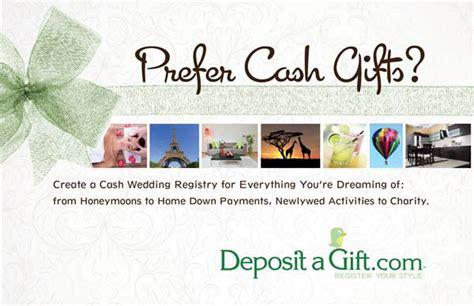 money wedding registry wedding registries with deposit a gift rock n roll