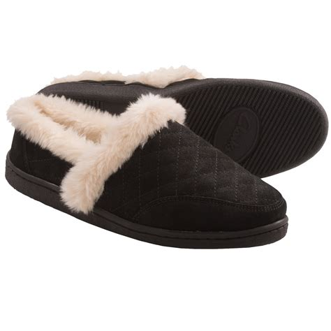 Bedroom Slippers Womens by Clarks Quilted Suede Slippers For Women Save 65