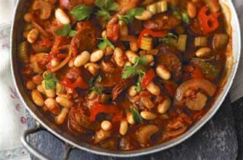 chorizo beans andalusian recipes recipe spanish stew goodtoknow sausage chickpeas bean dinner spain tomato things onions using tinned weekly