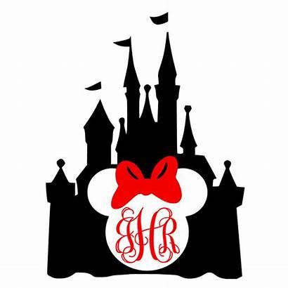 Disney Castle Silhouette Monogram Decal Mouse Cinderella