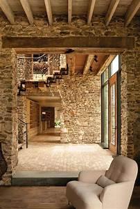 Brick, And, Stone, Wall, Ideas, 38, House, Interiors
