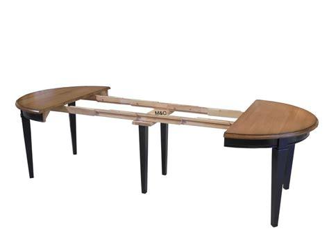 table de cuisine pied central table ronde directoire bois massif avec rallonges