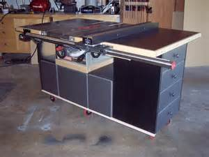 bakes table saw cabinet woodworking plan