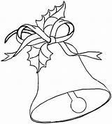 Coloring Bell Printable Bells Template Chimes Popular Santa sketch template