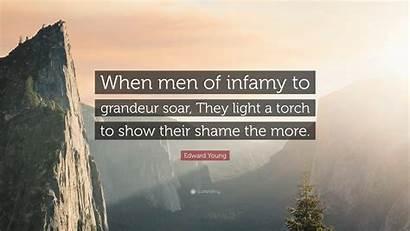 Edward Young Grandeur Infamy Soar Shame Torch
