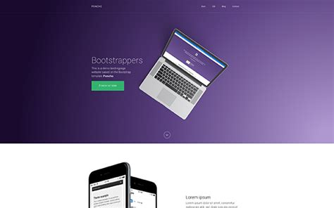 poncho single page appagency template landing pages