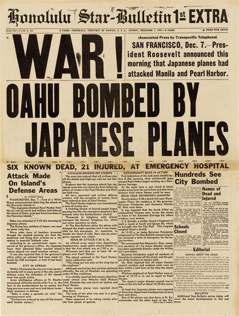 War! Newspaper Article