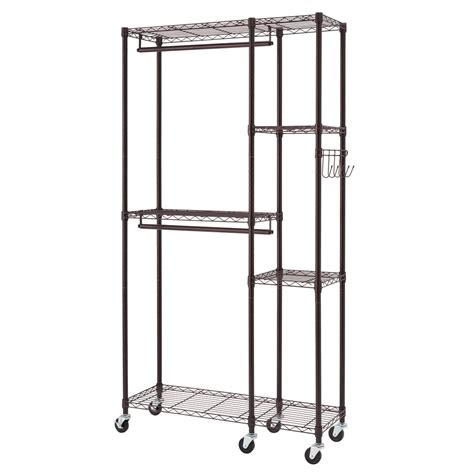77 in h x 41 in w x 14 in d bronze 5 shelf