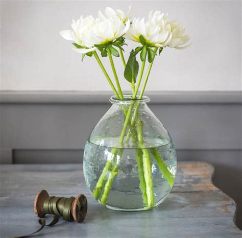 Large Glass Vase by Large Recycled Glass Vase By All Things Brighton Beautiful