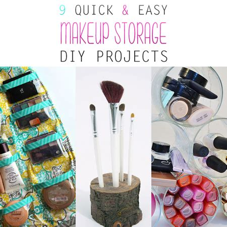 quick  easy makeup storage diy projects  cottage