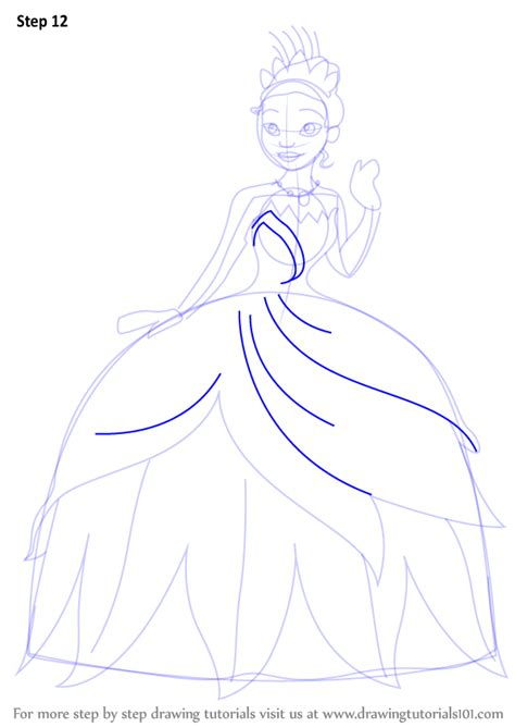 learn   draw tiana   princess   frog
