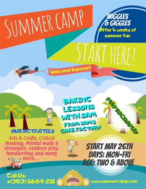 summer camps flyer template postermywall