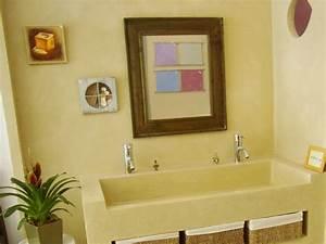 lavabo et salle de bain en beton cire a nantes betoncire With plan de travail exterieur 0 meubles sensation beton specialiste du beton cire
