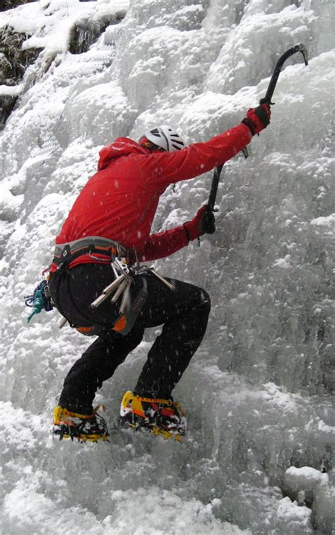 Ukc Articles Improve Steep Ice Climbing Technique