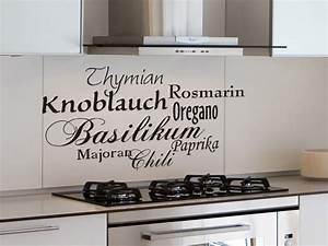 Wandtattoo Küche Bilder : wandtattoo italienische gew rze ~ Markanthonyermac.com Haus und Dekorationen