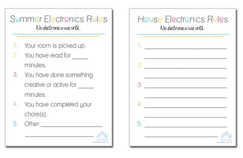 Electronic Checklist Template Silver Dolphin Books Free Summer Electronics