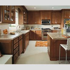 Traditional Kitchen With Cherry Cabinets Homecrest