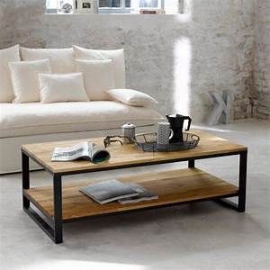 Table Basse Rectangulaire Bois : table basse rectangulaire bois r tro d coindustriel ~ Teatrodelosmanantiales.com Idées de Décoration