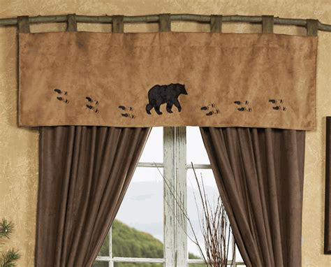 Wildlife Tracks Bear Valance How To Choose The Right Size Curtains Pictures Of Theater Window Shades Blinds Put 2 Curtain Rods Together Door Portiere Wood Brackets Hoop Shower Rod Canada Bedroom Ideas 2016