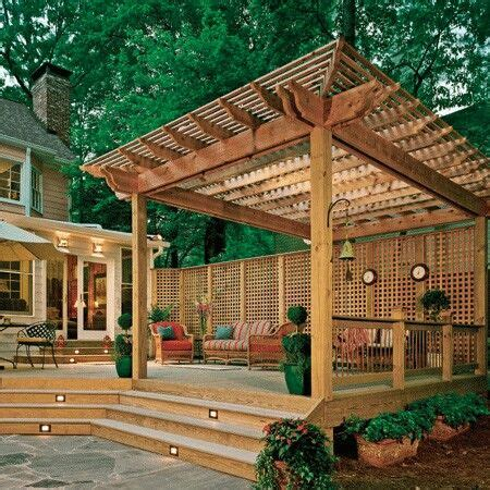 nice arbor beautiful deck patio designs pinterest