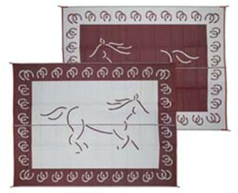 rv patio mat reversible horse 9ft x 12ft burgundy