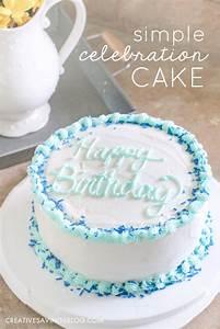 Easy Birthday Cake Ideas DIY Simple Celebration Cake
