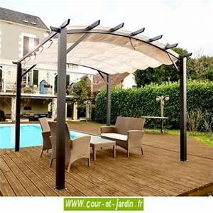 Tonnelle Terrasse : tonnelle aluminium terrasse en kit pergola aluminium ~ Melissatoandfro.com Idées de Décoration