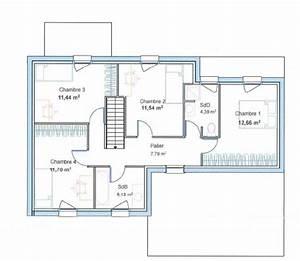 plan maison cubique dz53 jornalagora With plan maison etage 3 chambres gratuit