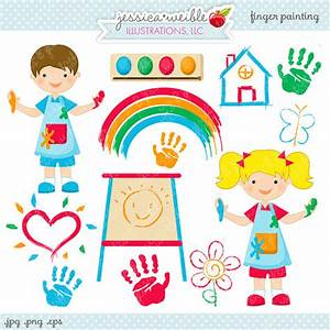 Finger Painting Cute Digital Clipart - Commercial Use OK ...
