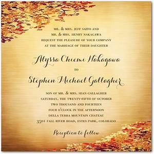 fall wedding invitation ideas wedding invitation stores With wedding invitations for november