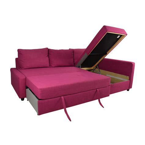 ikea manstad sleeper sofa  chaise  storage ikea
