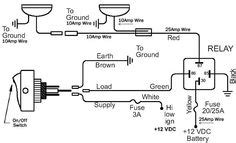 For Automobile 12 Volt Light Wiring Diagram by Electric Fans With Relay Wiring 12 Volt Dc Cars Wire