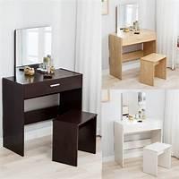 make up table Vanity Dressing Desk Makeup Table and Stool Set Dresser ...