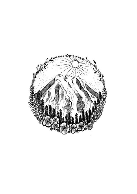 Image result for ocean and mountain tattoo | Mountain