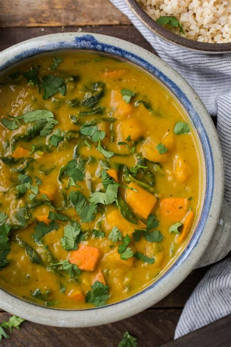 Red Kuri Squash Curry with Chard and Coconut   Naturally Ella