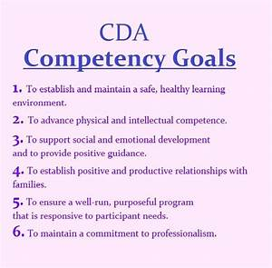 the 6 cda competency goals infant toddler cda With cda portfolio template
