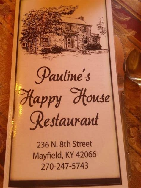 menu  happy house restaurant mayfield