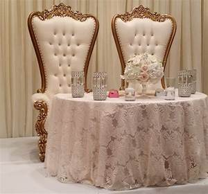 Throne Chair - Beige & Gold - DFW Lounge Rentals - Luxury