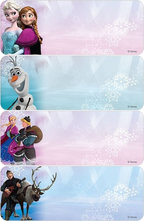 frozen address labels printable  tags  tag