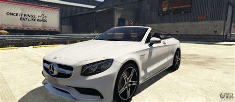 Mercedes-benz S63 Amg Cabriolet For Gta 5