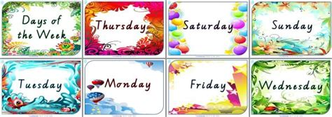 Beautiful Days Of The Week Posters For Your Classroom