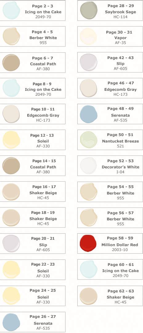 paint swatch reference pottery barn paint guide summer