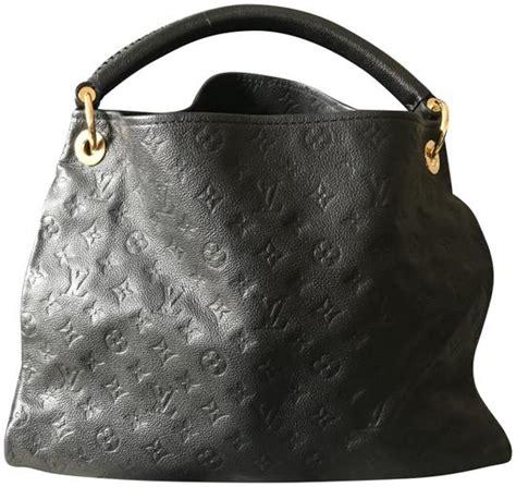 louis vuitton artsy handbag monogram empreinte mm black leather shoulder bag tradesy