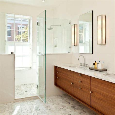 marble hexagon 4x4 floor tiles master bath