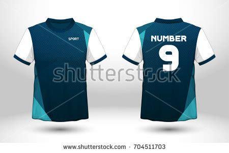 blue white layout football sport tshirt stock vector