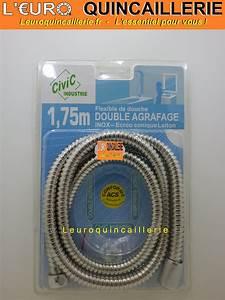 Flexible De Douche : flexible de douche inox double agrafage tuyau m tre ~ Premium-room.com Idées de Décoration