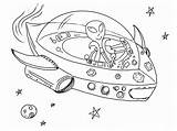 Coloring Alien Pages Space Printable sketch template