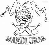 Mardi Gras Coloring Pages Jester Print Printable sketch template