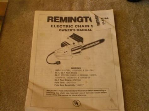 Remington Chainsaw Manual   Chainsaw Outlet
